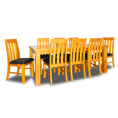 Oakland 2.0m Dining Table+Chairs (Lite)